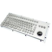INDUSTRIAL GRADE WATER PROOF METAL KEYBOARD WITH TRACK BALL