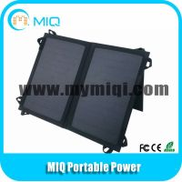 MIQ 5.5V/7W foldable solar panel pack solar cell phone charger with stent thumbnail image