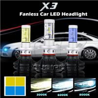 uto Spare Parts Car Headlight Led H4, 36W 8000LM Waterproof IP68 Led Lens Headlight X3 Led Headlight