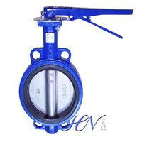 Wrench Operated Concentric Cast Iron Wafer Type Butterfly Valve thumbnail image