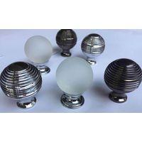 Electroplating Chrome Zinc Alloy Crystal Furniture Hardware Handles Knobs
