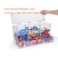 China supplier sell Plexiglass PMMA acrylic candy dispenser