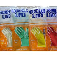 Flocklined Clearn household kitchen latex gloves rubber material