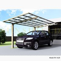 2010 New Metal Aluminum Carport Shelter with Gutter and Polycarbonate Panel thumbnail image
