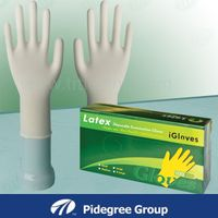 medical latex gloves Malaysia 100% natural latex