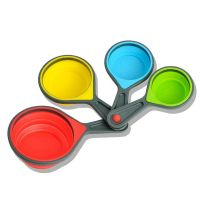 Colored Silicone Foldable Collapsible Measuring Cup And Spoon Set thumbnail image