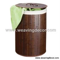 Eco-friendly and durable bamboo laundry basket for dirty clothes from manufacturer thumbnail image