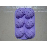 6 cavity easter egg silicone cake mold / chocolate mold factory price