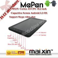 10.2 inch android 2.3 capacitive Cortex A9 MID tablet pc built in 8GB MAIPAD MX19