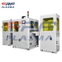 CRF plasma cleaning machine manufacturer wide width linear surface treatment machine