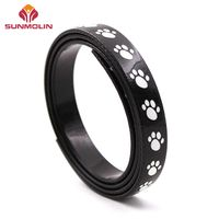 Eco friendly waterproof tpu coated webbing with dog's paw pattern