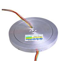 JINPAT pan cake slip ring with through bore 20.0mm, 20 circuits @380VAC/DC used for Packaging / wrap
