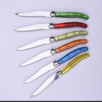 Colors AS Handdle SS Metre 5 inch LAGUIOLE TABLE Steak Knife