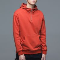 Custom Solid Color Half Zip Blank Cotton Fashion Pullover hoodies for Men