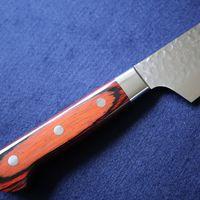 Japanese Kengata Chefs VG10 Damascus Kitchen Knife #07400 thumbnail image