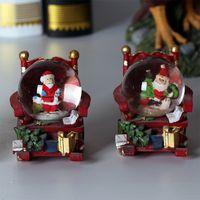 Electroplate Silver Custom Christmas Santa figurine Snow Globe for Celebration