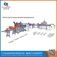 CKD-2 Dry Type Full Automatic Single Blade Ceramic Tiles Cutting Squaring Production Line