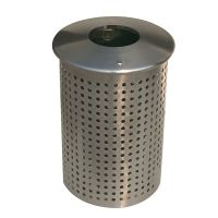 Outdoor Stainless Steel Trash Bin [Gardens, Parks, Streets] [FREE FREIGHT CIP] thumbnail image