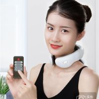 Electric pulse back and neck massager far infrared heating pain relief tool healthcare relaxation thumbnail image