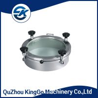 SS304 and SS316L High Pressure stainless steel sanitary manhole cover with sight glass