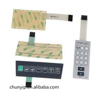 on off graphic overlay membrane switch with 3M adhesive