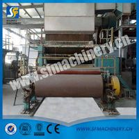 Custom toilet paper machinery with embossing and folding and cutting