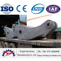 Steel casting frame for forging press