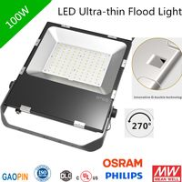 UL Ultra-thin Flood Light 120lm/w osram chip floodlight