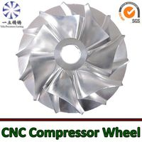 Aluminum alloy CNC machining compressor wheel used for diesel engine thumbnail image