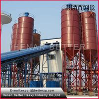 hot sale stationary type HZS series concrete batching plant
