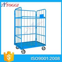 L shape foldable storage cart trolley