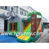 High Quality PVC Inflatable Elephant Type Bouncer & Slide For Kids