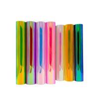 DIY craft self adhesive rainbow holographic vinyl sticker thumbnail image