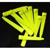 Yellow 2 3/4'' plastic golf wedge tee thumbnail image