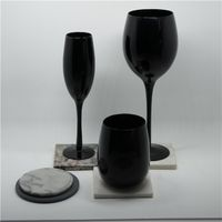 classical pure black egg shape glass wine cup thumbnail image
