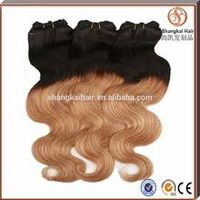 wholesale high quality brazilian two tone human hair weave