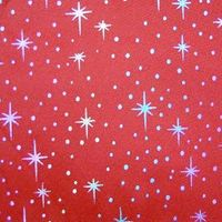 Colored foil printed fabric