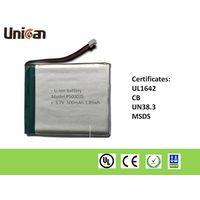 3.7V Li-ion Polymer Battery 500mAh