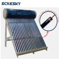 Copper Pipe Material and Solar Thermal Application Evacuated Tube Solar Water Heater