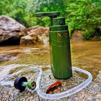 Portable Outdoor Water Purifier Camping 0.01 Micron Emergency Backpacking Water Filter for Hiking wi thumbnail image