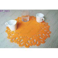 Cut felt placemats, table mats, felt place mats, dinning mats, table ware