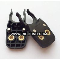 ISO20 Tool Holder Clips Plastic Tool Holder Forks Black CNC Tool Grippers for CNC Machine