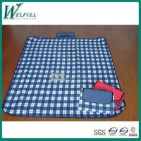 practical plaid 600D pinic blanket, beach blanket, outdoor blanket