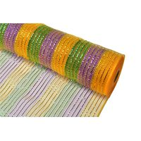 """21""""10y gold/purple/Emerald green strip plastic wrapping mesh for 70C23I09I24X23 thumbnail image"""