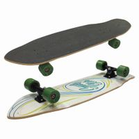"34""x10.65""maple double kicktail Longboard Complete"