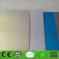 Best price of brush finish aluminum composite panel alucobond manufacturer