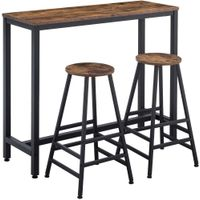 Bar Table Set Dining Height Table Kitchen Counter with Bar Chairs