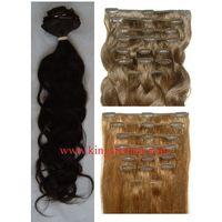 Virgin cuticle 10A brazilian human hair clip-in hair extension clip on hair extension thumbnail image