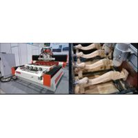 Professional 4 axis wood cnc router machine with multi head