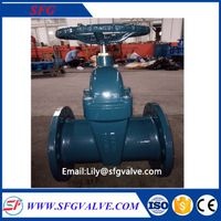 shengfeng DIN F5 resilient seated gate valve with factory price